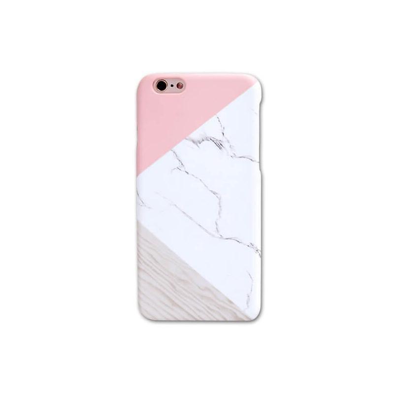 Coque rigide Soft Touch marbre géométrique
