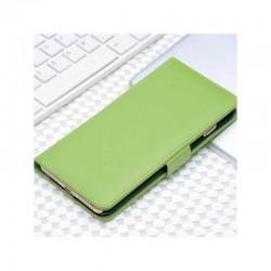 Etui portefeuille en simili cuir pour iPhone 7 ou iPhone 8 Vert Pomme