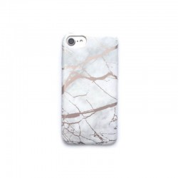 Coque souple or texture marbre pour iPhone 7 ou 8 blanc