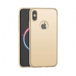 Coque de protection 360° Or pour iPhone X et iPhone XS